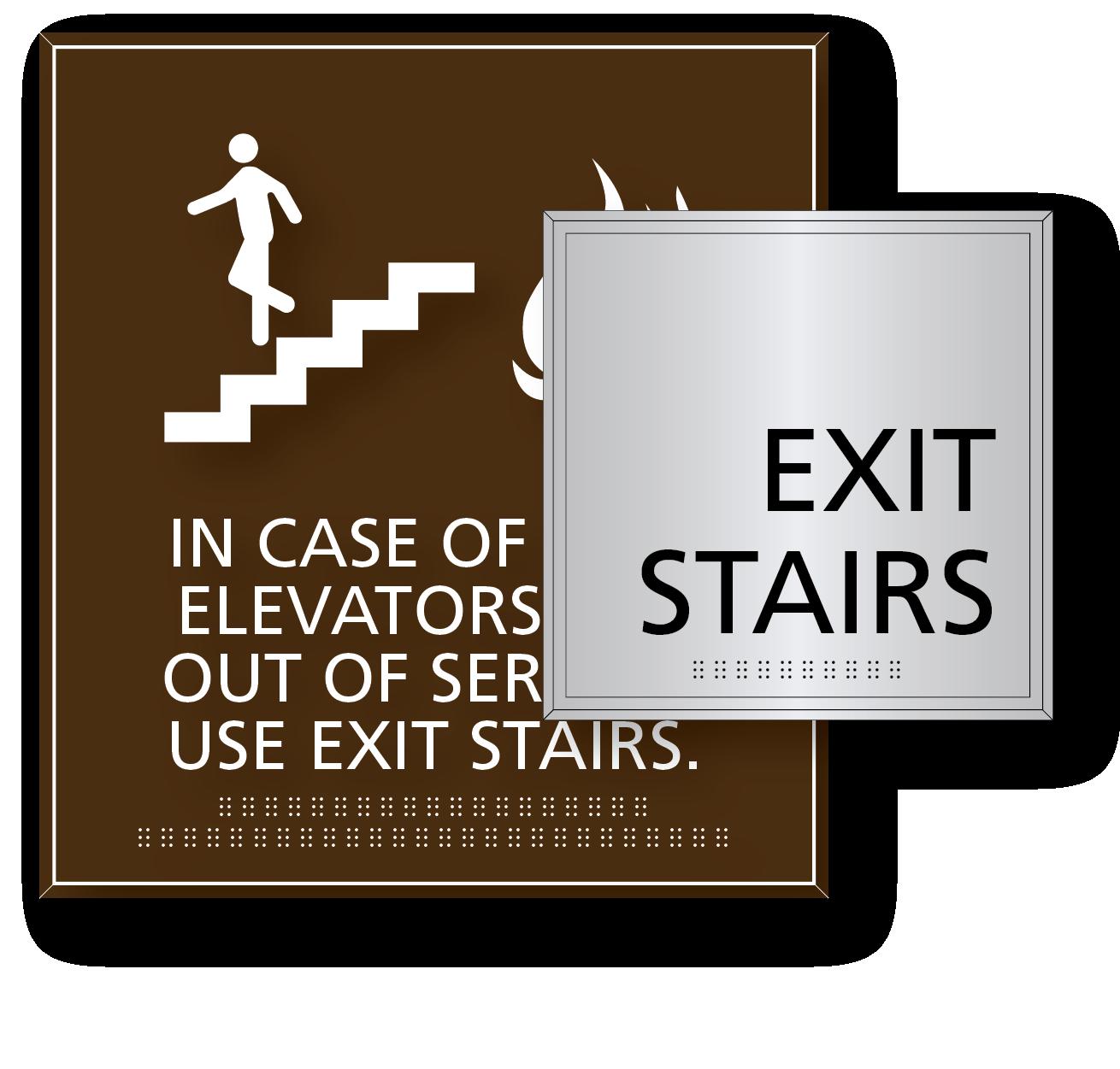 Stair & Elevator Signs